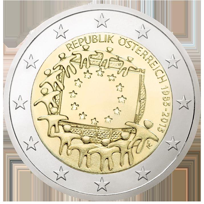 Zum Jubiläum 30 Jahre Europaflagge Gibt Es Jetzt Eine 2 Euro
