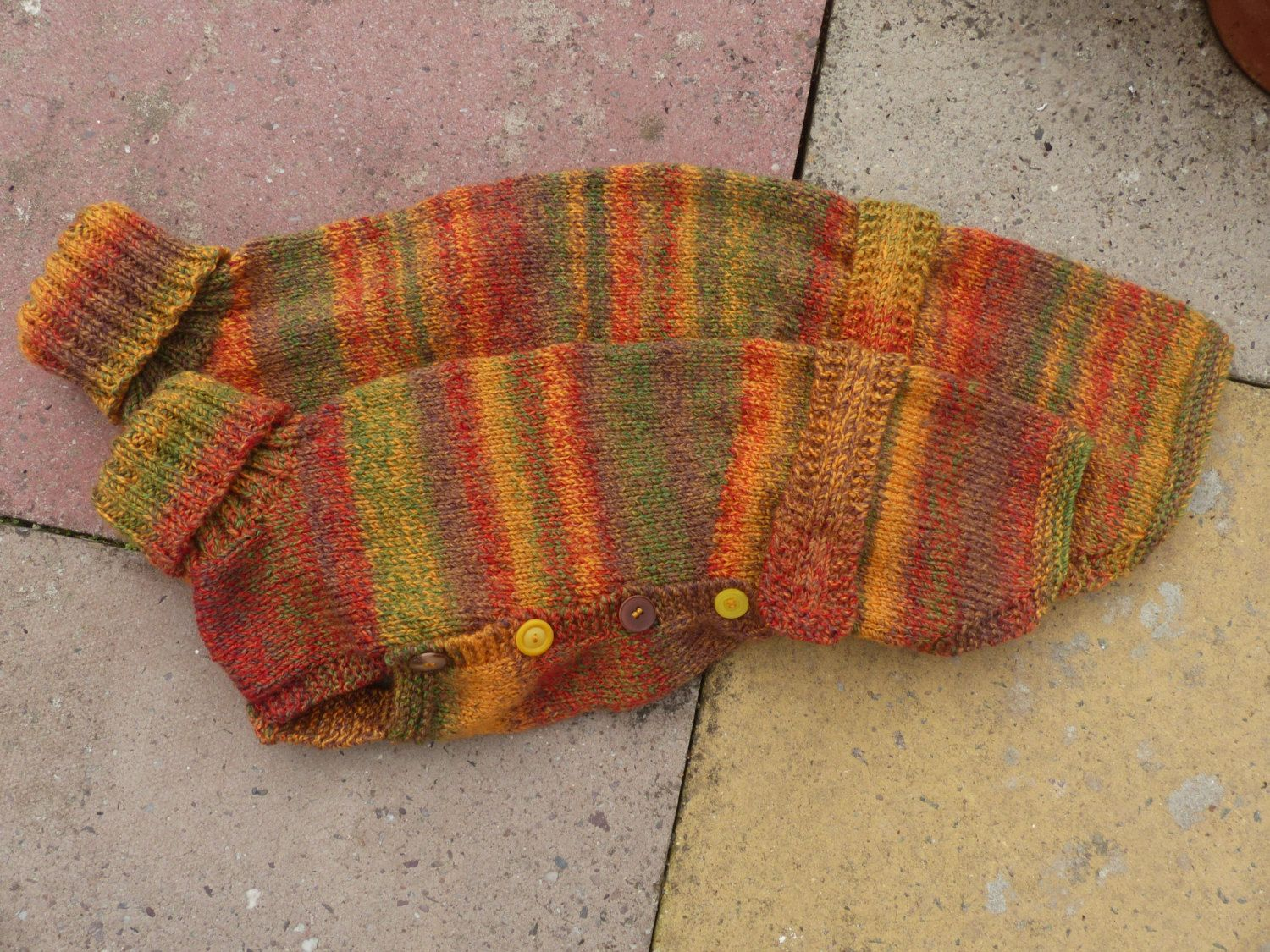 Ready to post Small whippet jumper in autumn colours