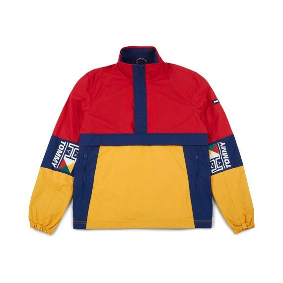 b647bf77b TOMMY HILFIGER JEANS Retro Block Pullover Jacket Multicolor  red/Green/Blue/Yellow Size M