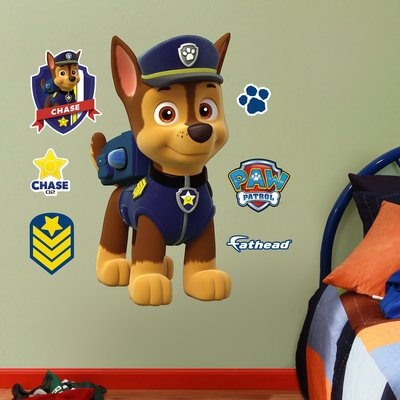 fathead nickelodeon chase junior peel and stick wall decal