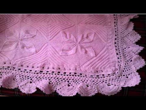 Manta cobijita colcha frazada para bebe en crochet - Colchas ganchillo bebe ...