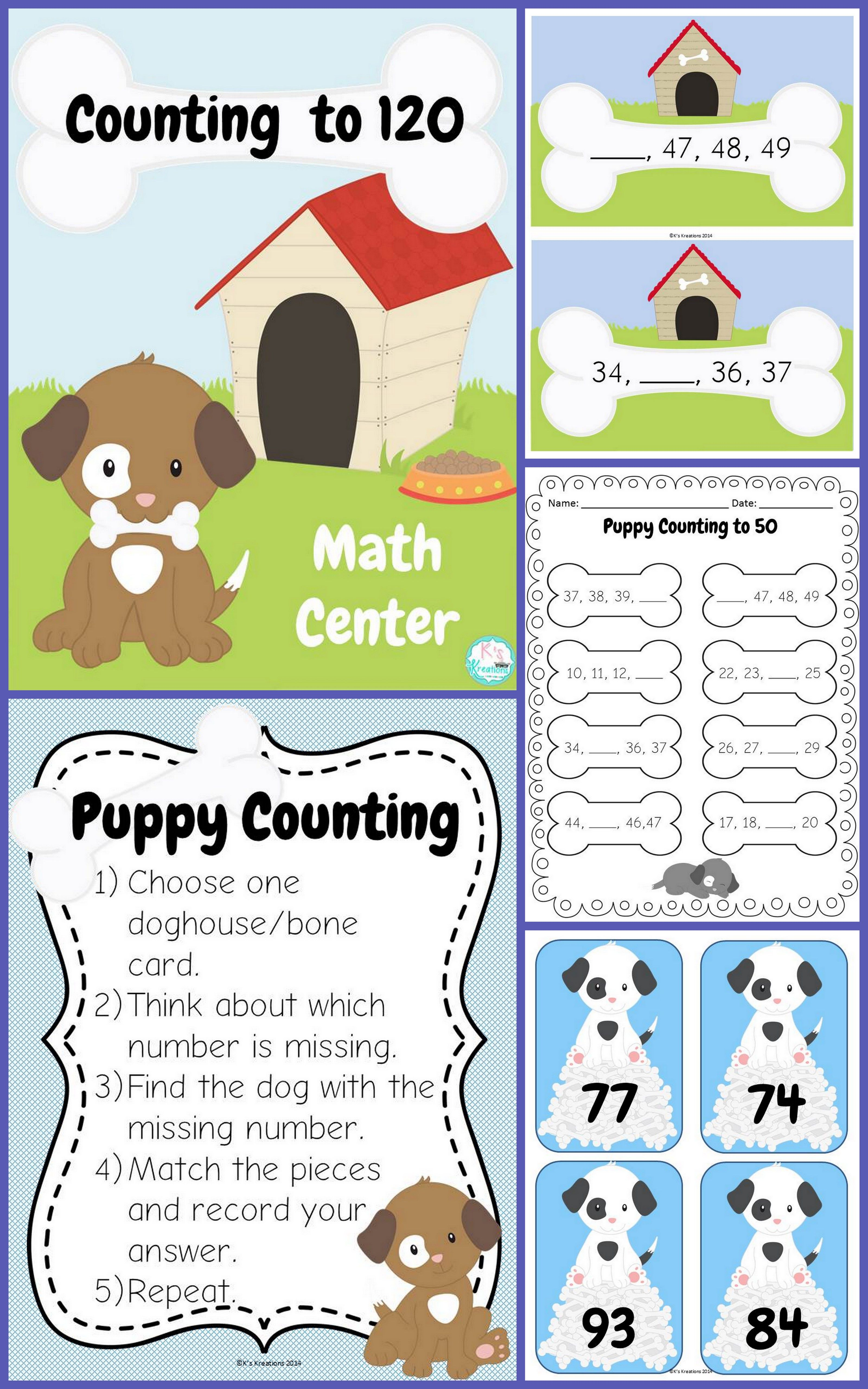 1 Nbt 1 Counting To 120 Math Center