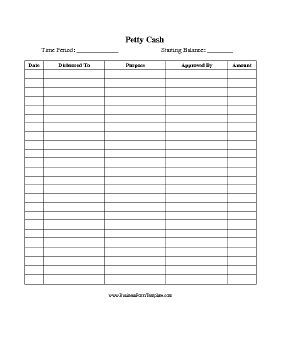 petty cash sign out sheet