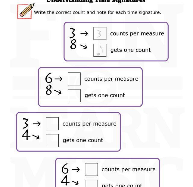 time signature worksheet Termolak – Time Signature Worksheet