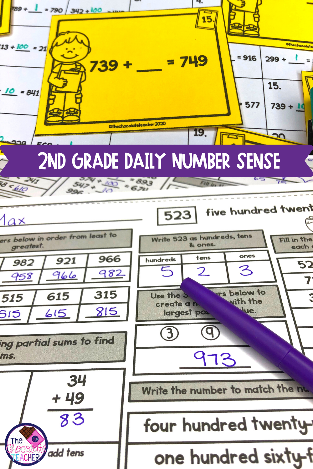 Number Sense Place Value For Second Grade Number Sense Worksheets Number Sense 2nd Grade Math