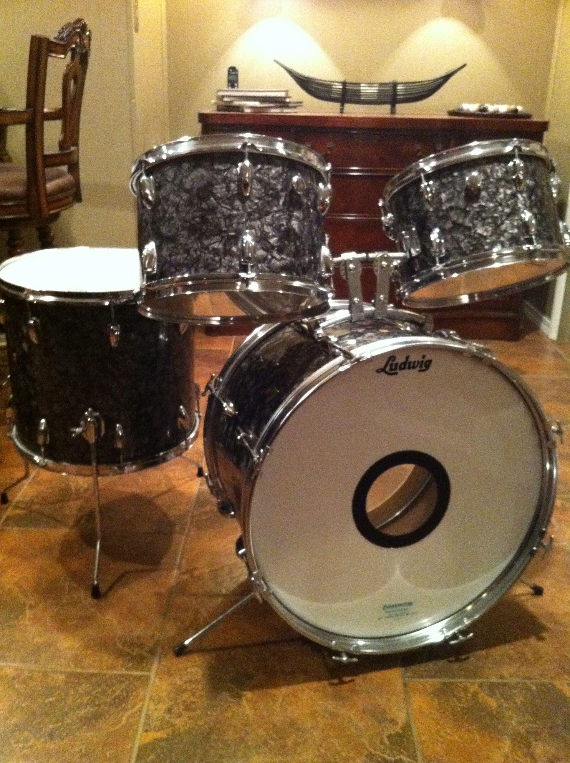 Black Diamond Pearl Apollo 4vintage Drumsdrum