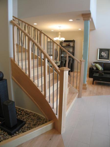 Furniture Wooden Cheap Modern Stair Railings Small ...