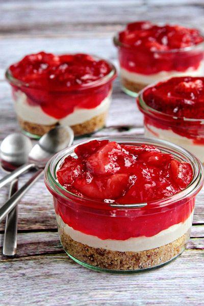 Pretzel Dessert,love the individual servings!