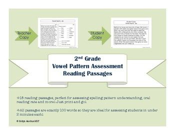 Nd Grade Phonics Vowel Rules Reading Assessments  Summative