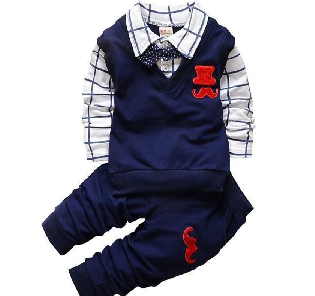 xirubaby Cow Printed Clothing Set for Baby Girls Boys Casul Shirt and Pants Outfits Outwear
