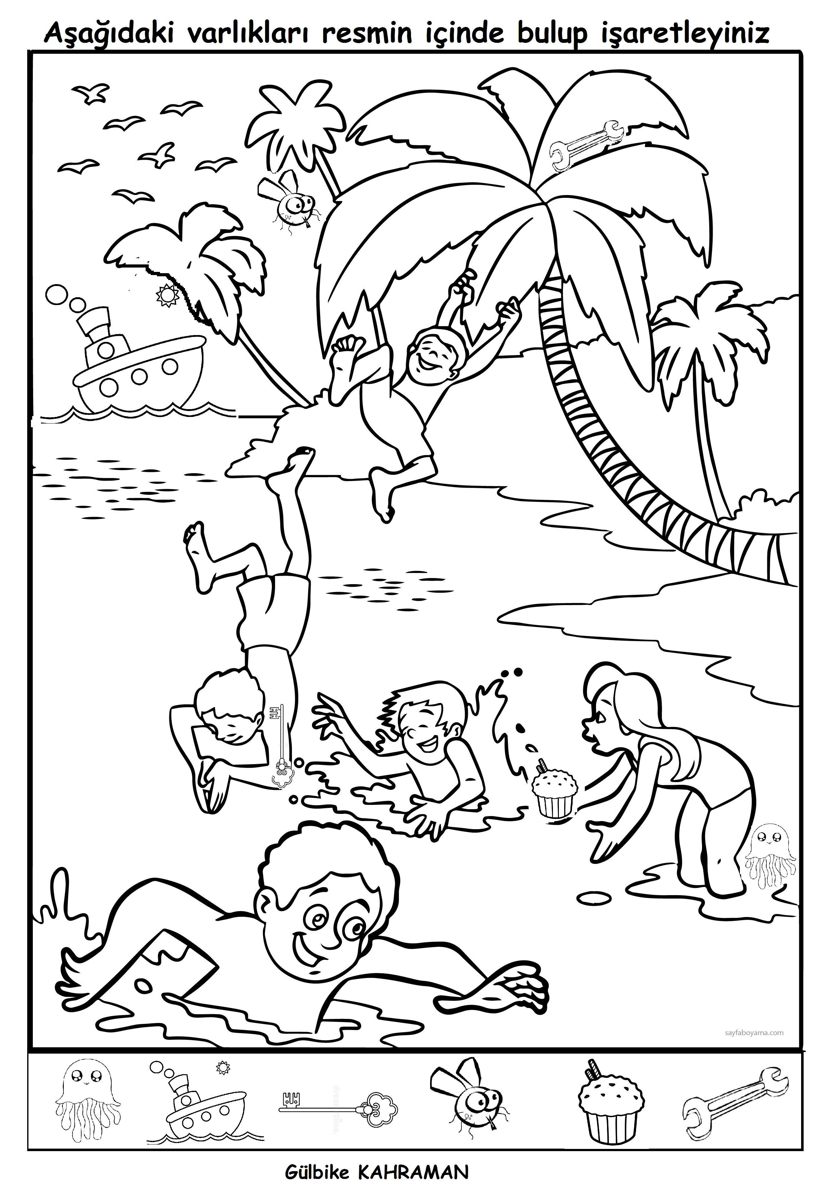 Gizlenmiş varlıkları bulma i teach coloring pages summer