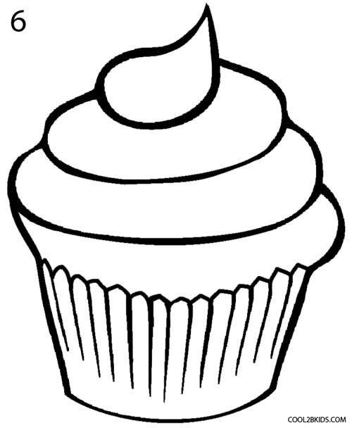 How to Draw a Cupcake Step 6 | Cupcake drawing, Cake ...