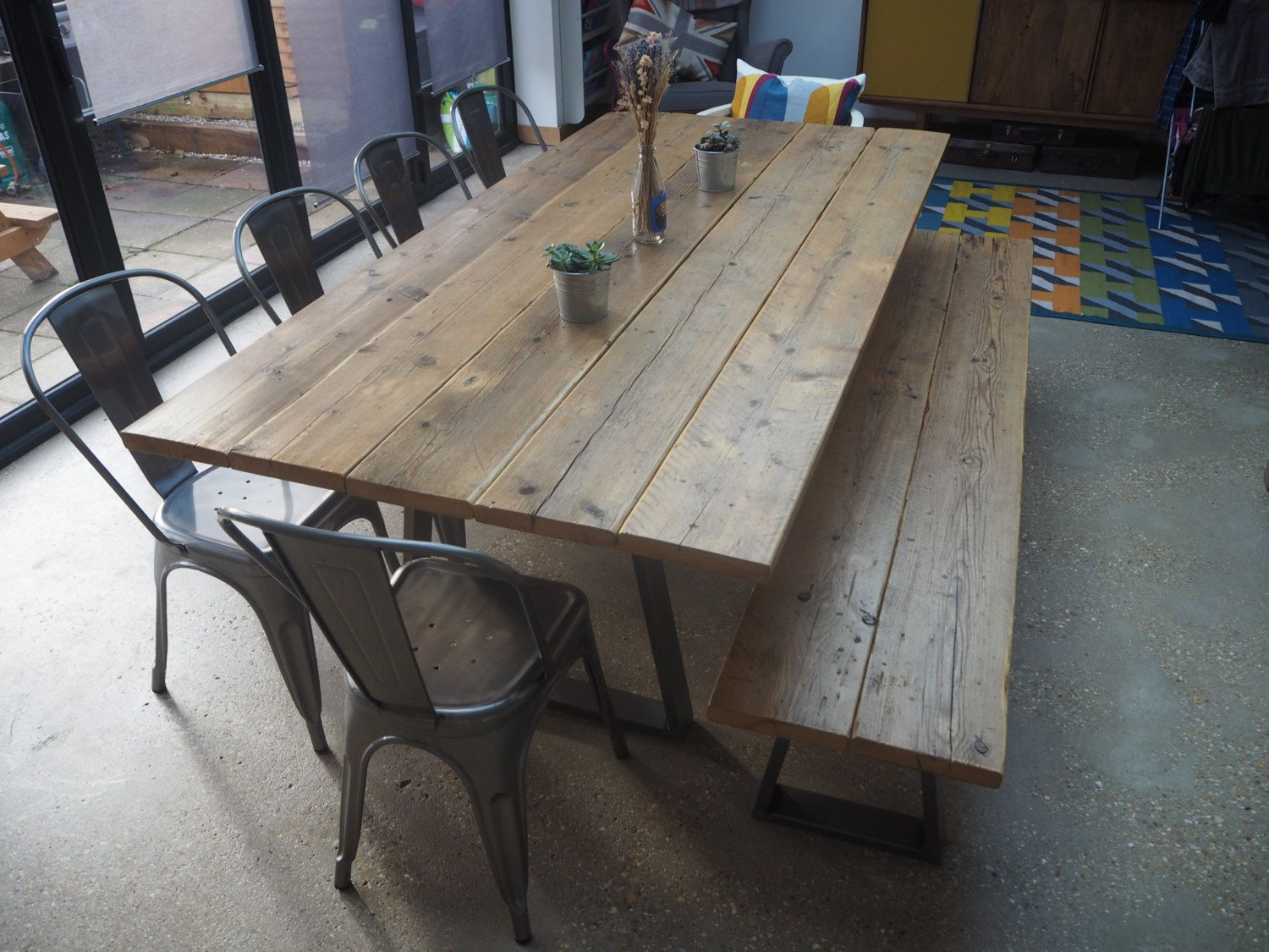 Extra Large Rustic Dining Room Table And Bench By Justbettyco On Etsy Https