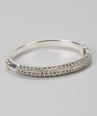 Another great find on #zulily! Sterling Silver & Marcasite Textured Bangle #zulilyfinds