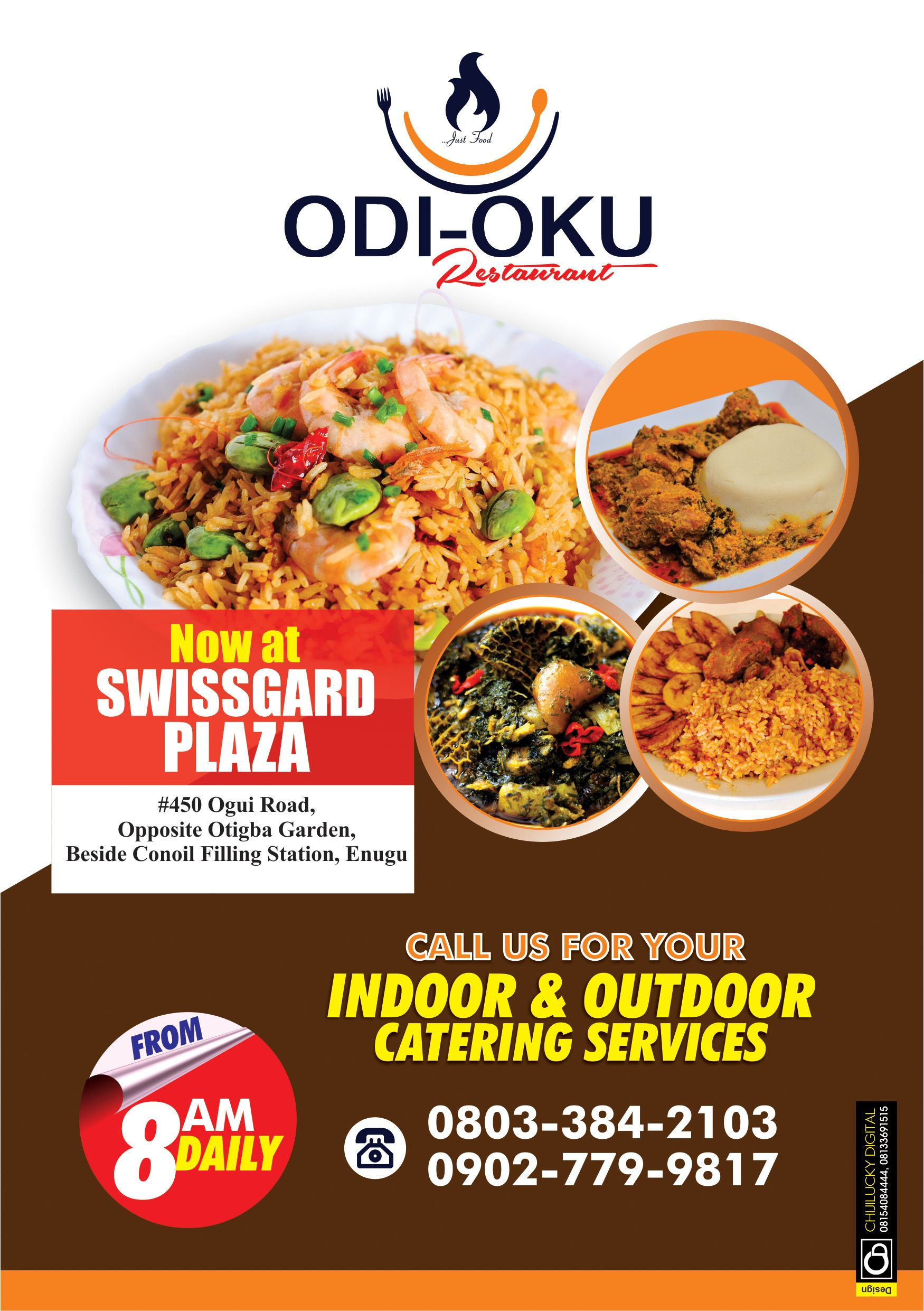 Catering Service Flyer Design