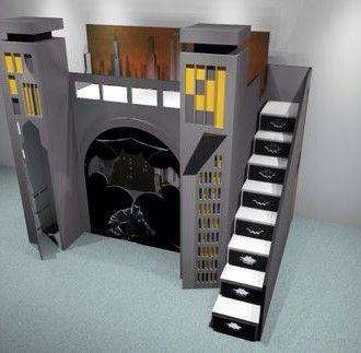 Batman Designer Bunk Beds Twin Over Full With Images Diy Bunk