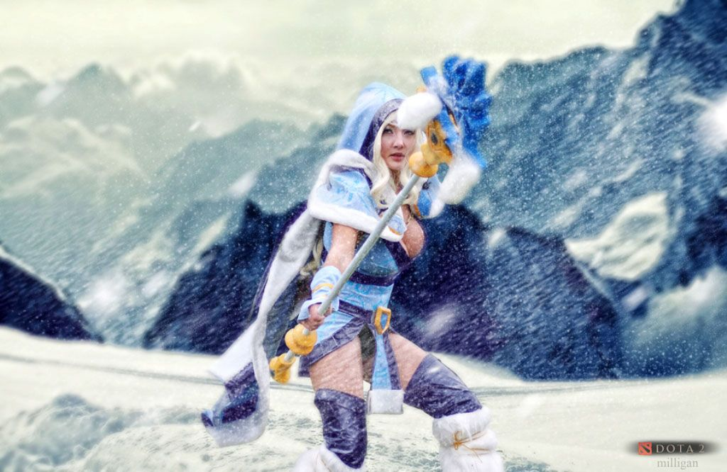 Download Free Crystal Maiden Snow Storm Cosplay Wallpaper With High