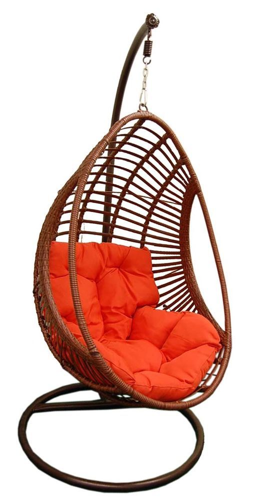 egg chair swing x rocker pulse gaming cables outdoor hanging stand cushion resin wicker comfy durable gelaier