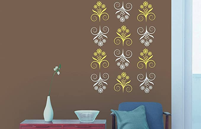 Buy Asian Paints Royale Play Wall Fashion Bliss Stencil Wall Sticker For Home And Office Wall Decor In 2021 Asian Paints Wall Designs Stenciled Wall Decor Asian Paints