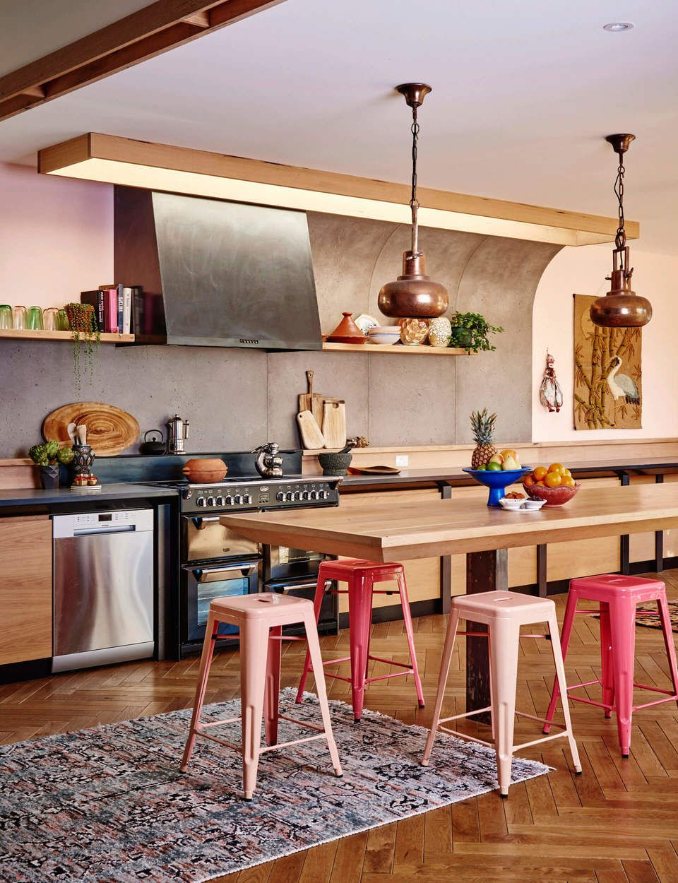 A colourful dream family home in Australia Kitchens
