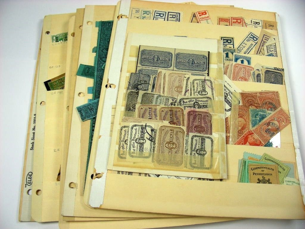 US Excellent Accumulation of REVENUE Stamps & Post Office Seals in stock sheets https://t.co/ugHUFn1NYD https://t.co/yADLoNOihK