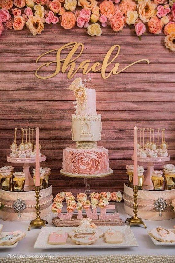 Baby wall name.Gold baby room decor in 2019 Birthday