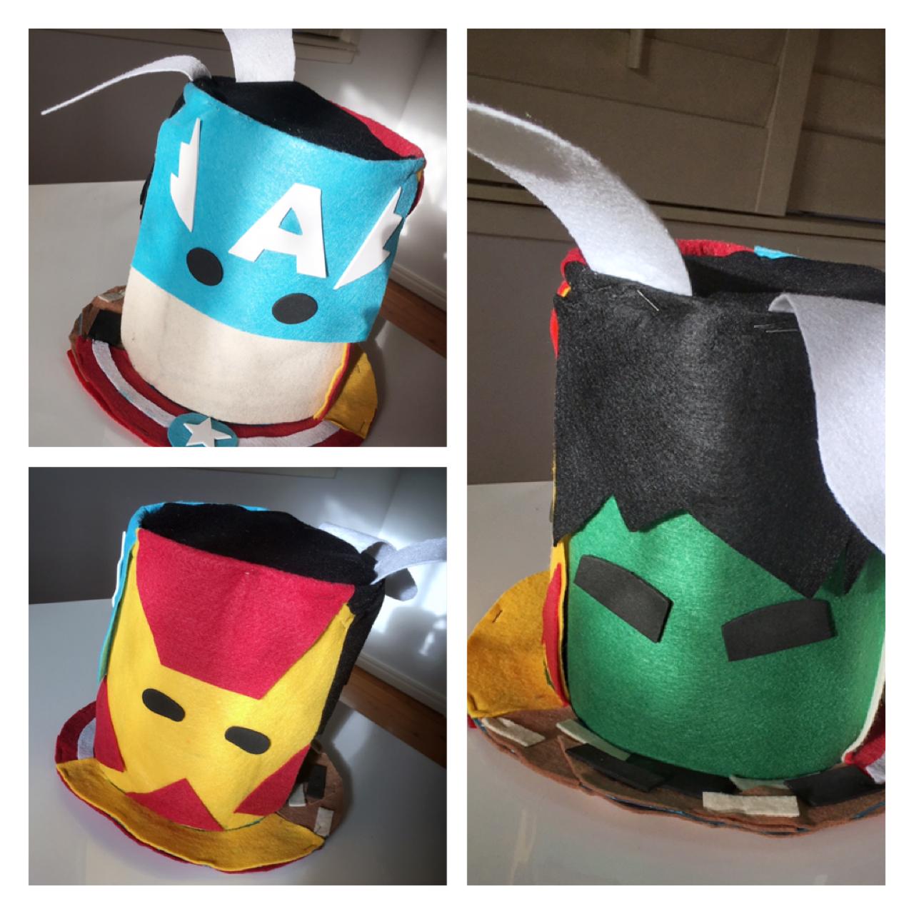 ebb29574591 DIY - Superhero Easter bonnet - avengers - hulk - captain America - ironman  Easter Hat