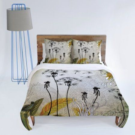 Amazon Com Deny Designs Iveta Abolina Little Dandelion Duvet Cover Queen Home Kitchen Bedding Sets Duvet Covers Contemporary Bed