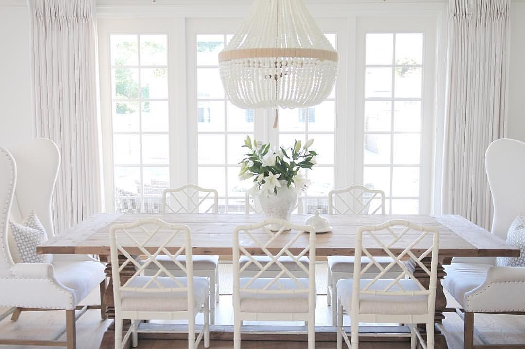 Elegant white dining room dining pinterest room for Ballard designs dining room