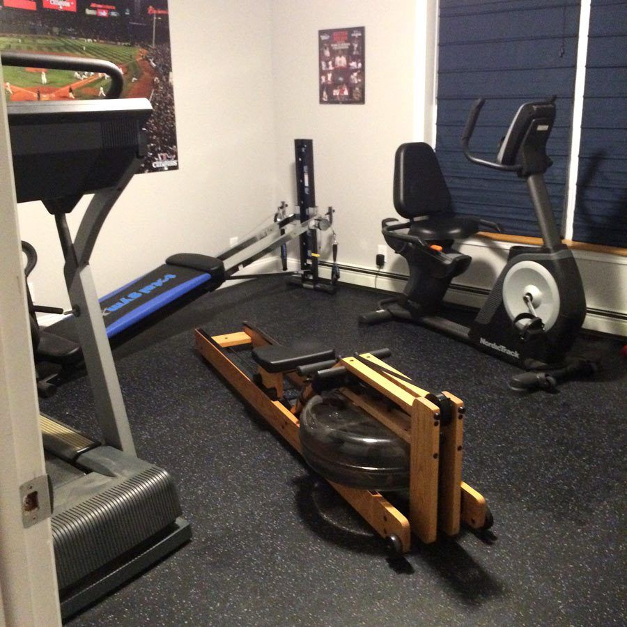 Photo Friday 11 Rubber tiles, At home gym, Home gym flooring