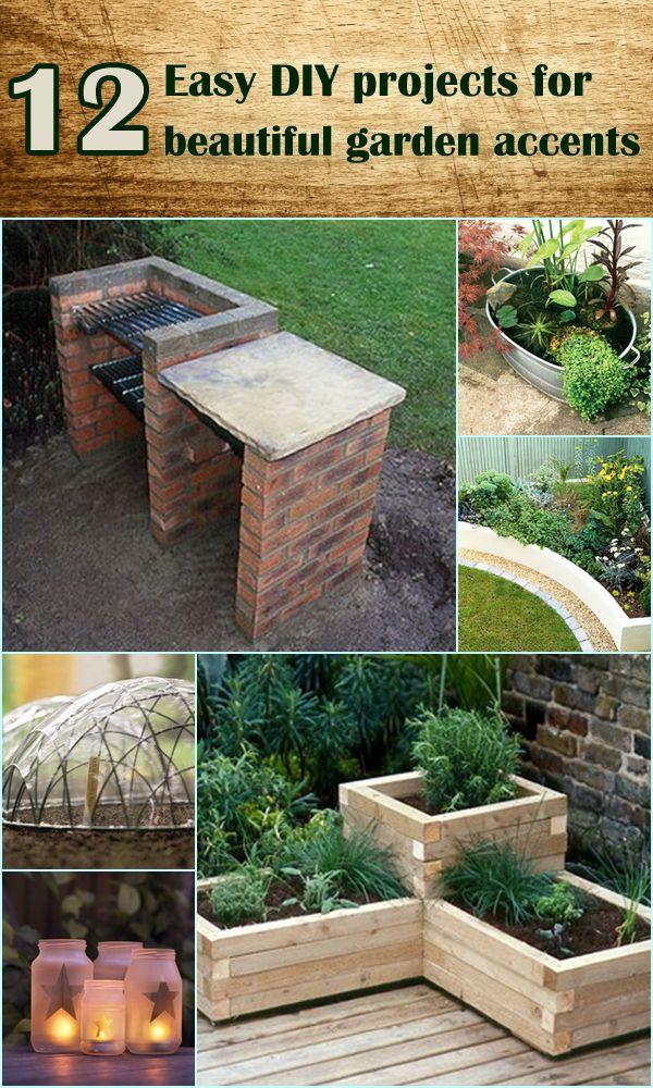 Easy DIY projects for beautiful garden accents Jardinería, Jardín - como hacer una jardinera