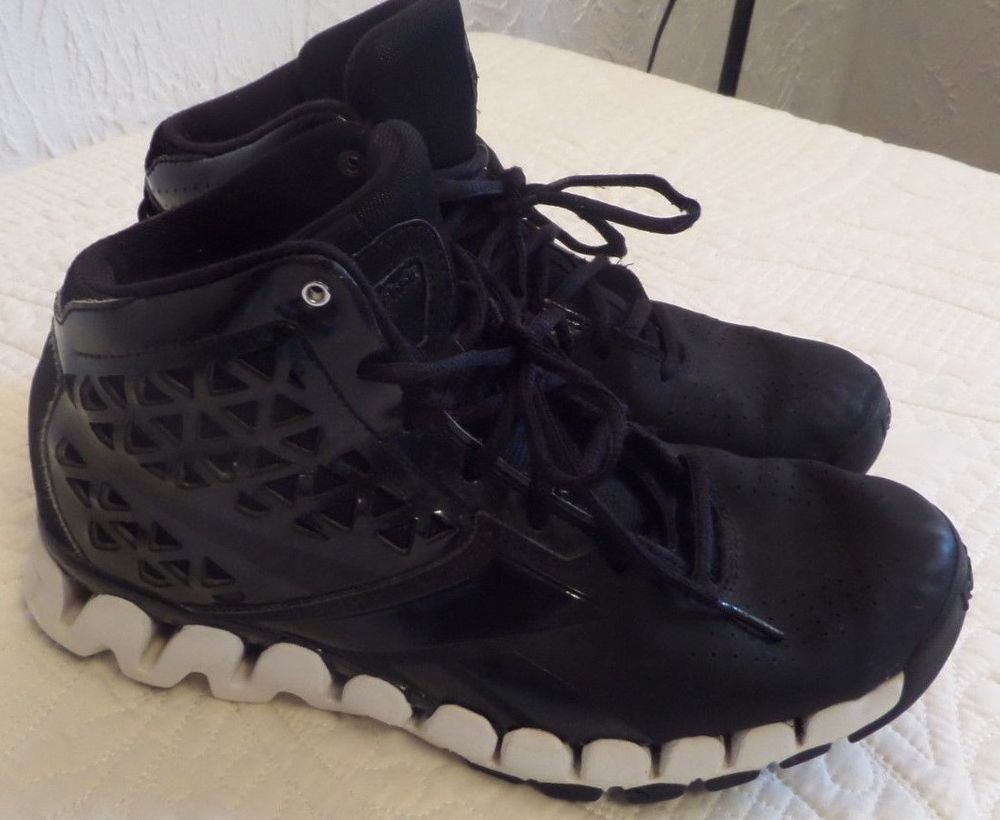 befc112e Reebok, Zig Tech, Black/ White High Top, Sneakers Men's Size 6 EUC ...