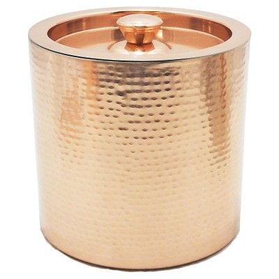 Ice Bucket 3qt Stainless Steel And Copper Threshold Brown Wine Bucket Steel Bucket Bucket