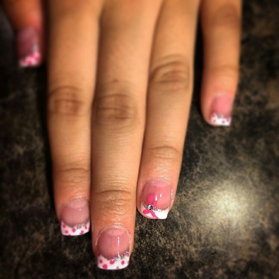 French mani showing support for her Grandmother this month.  Nails By Monica