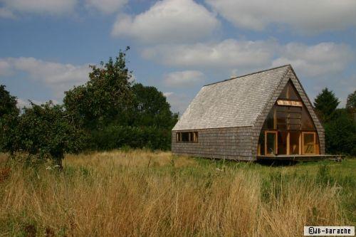 Jean Baptiste Barache Maison Dans Un Champ Wooden House