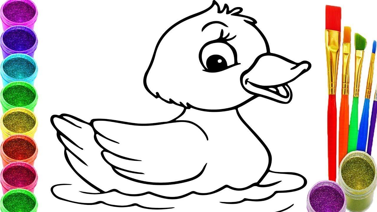 Dibuja y Colorea Un Pato de Arco Iris | Dibujos Para Niños | Learn ...