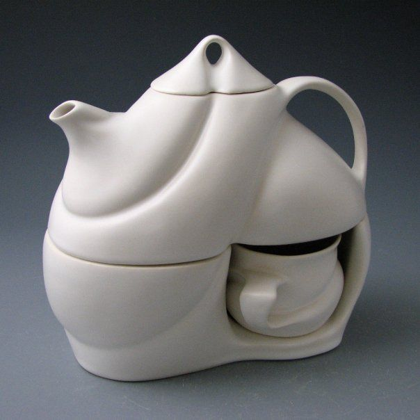 Saenger Porcelain Tea For Two Cast Porcelain