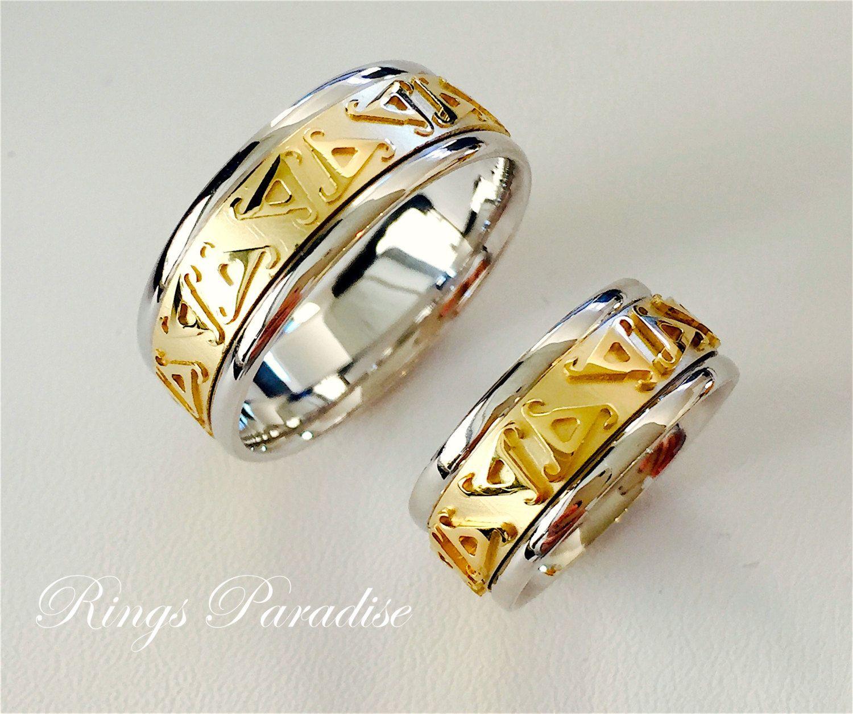 Couples Scottish Rings Set, Men's Women Celtic Engagement Ring ...