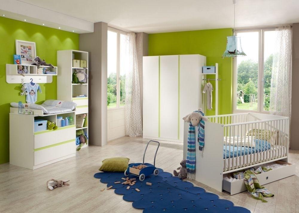 Kinderzimmer Bibi Babyzimmer komplett 7-teilig Weiß Grün 7116 Buy