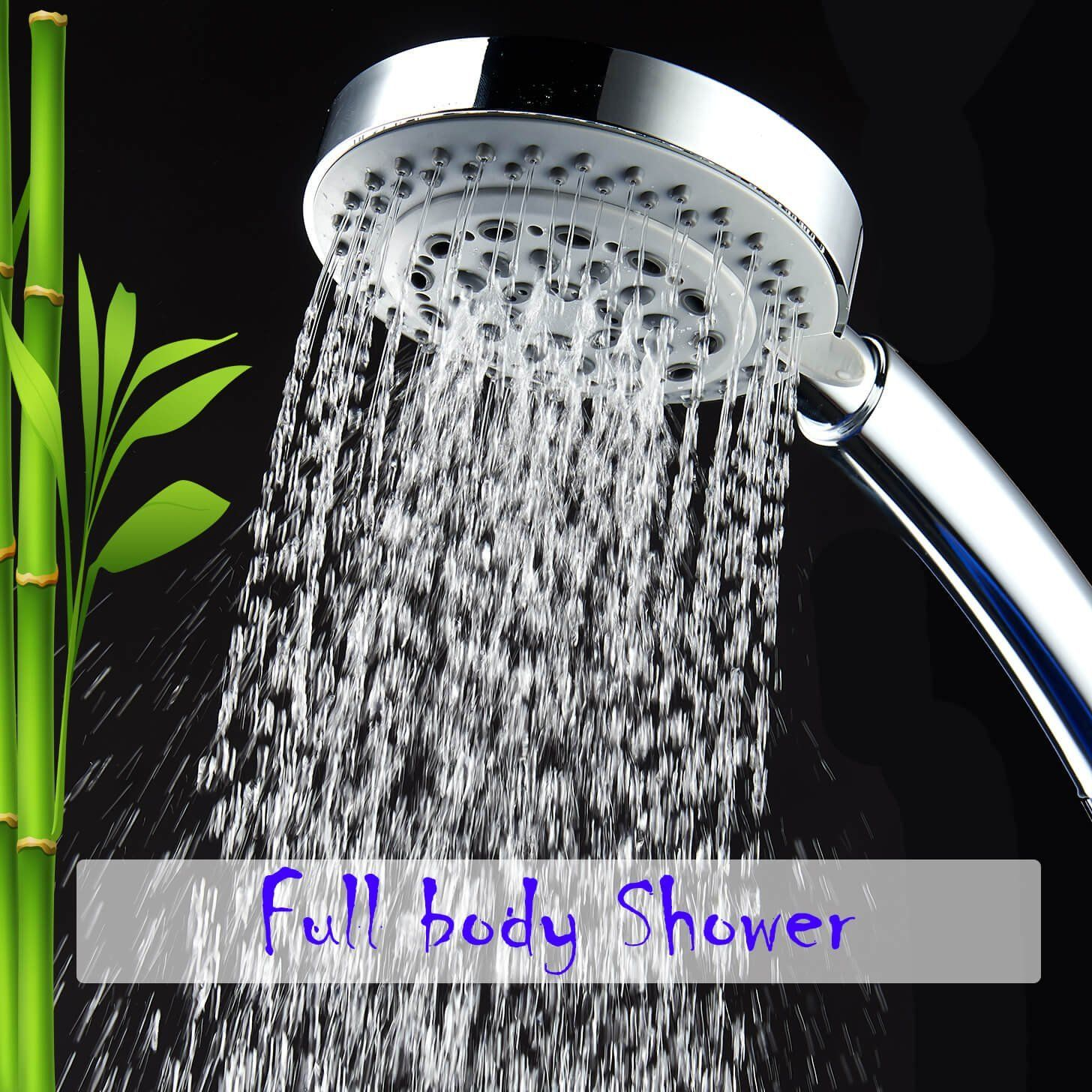 CaptainEco 8 Functions Hand Held Shower Head with 5-ft Flexible Hose ...
