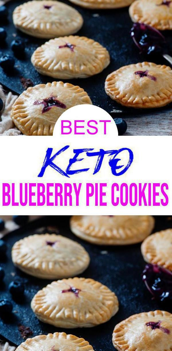 BEST Keto Cookies! Low Carb Keto Blueberry Pie Cookie Idea – Quick & Easy Ketogenic Diet Recipe – Completely Keto Friendly #ketocookierecipes