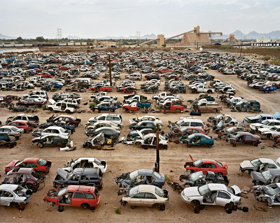 Edward Burtynsky Auto Wreckers #1 Tucson, Arizona, USA, 2006 | waste ...