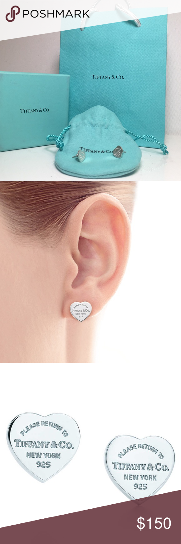 29d2c90a6 Sterling Silver · RETURN TO TIFFANY MINI HEART TAG EARRINGS Inspired by the  iconic key ring first introduced in