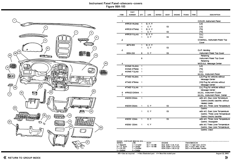 Chrysler Voyager Parts Chrysler Voyager Accessories Piratas