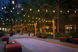 Bocce under the string lights at Gables Dupont Circle in ...
