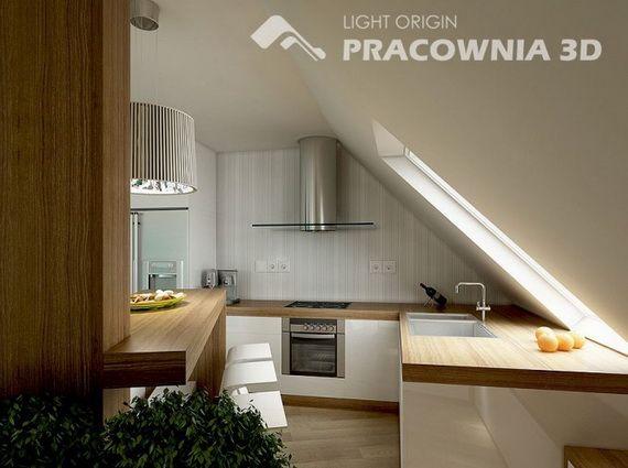 Ideen-kleine-Wohnung-küche-dachshräge | Was mir gefällt | Pinterest ...