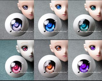 Dd bjd acrylic eyes cartoon series f 6   8 - - 26mm eyeball for 1/6 1/4 1/3 BJD diy accessory