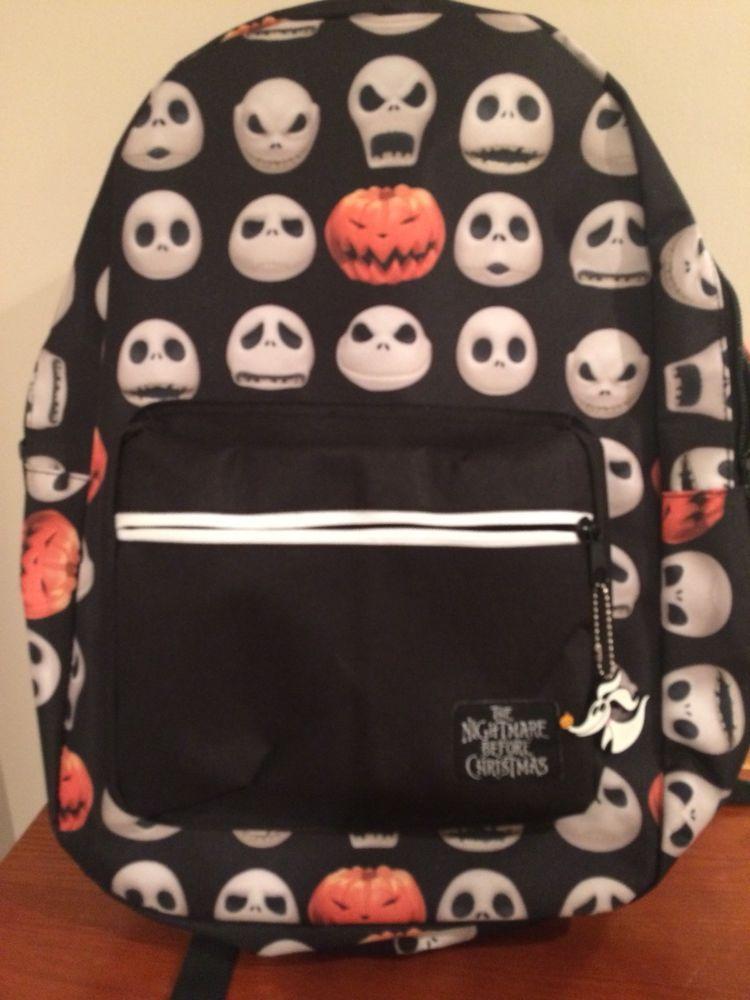 Nightmare Before Christmas Bookbag/ Backpack Jack Heads/ Pumpkin