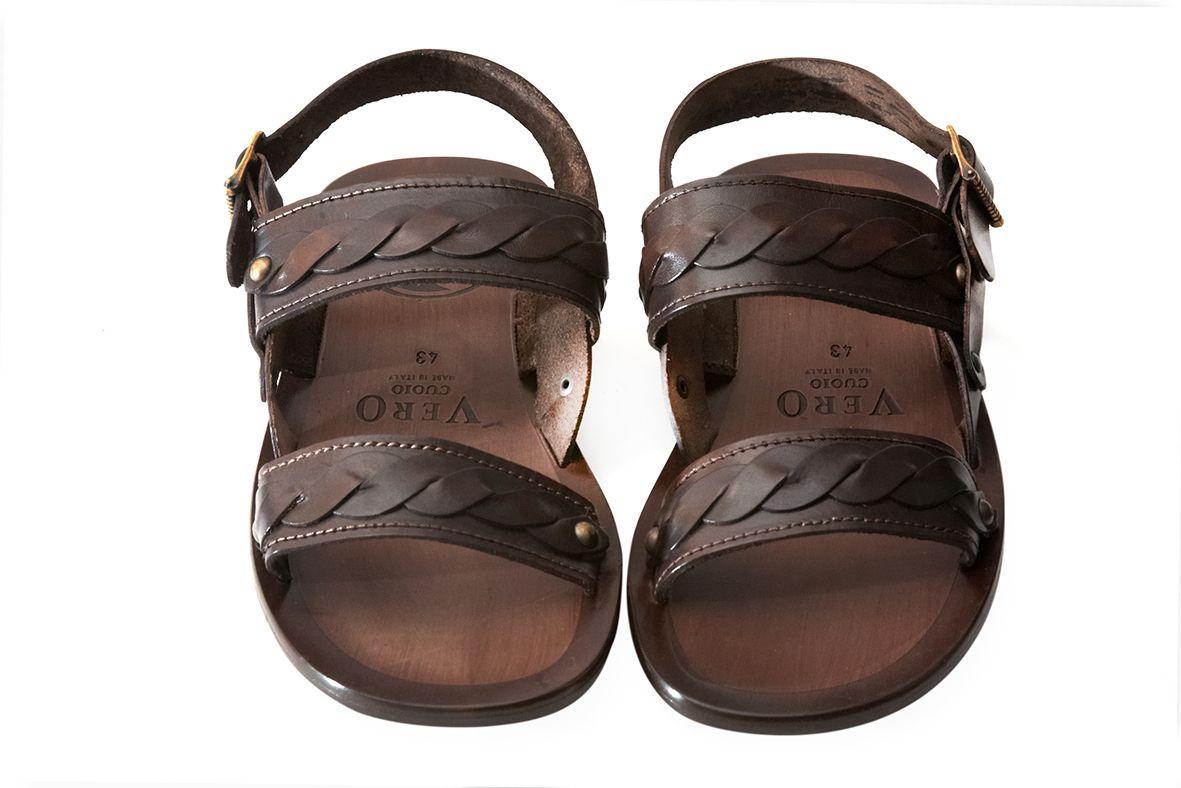 Zaffaella Shoes Amerigo Italian Mens Casual Leather Sandal