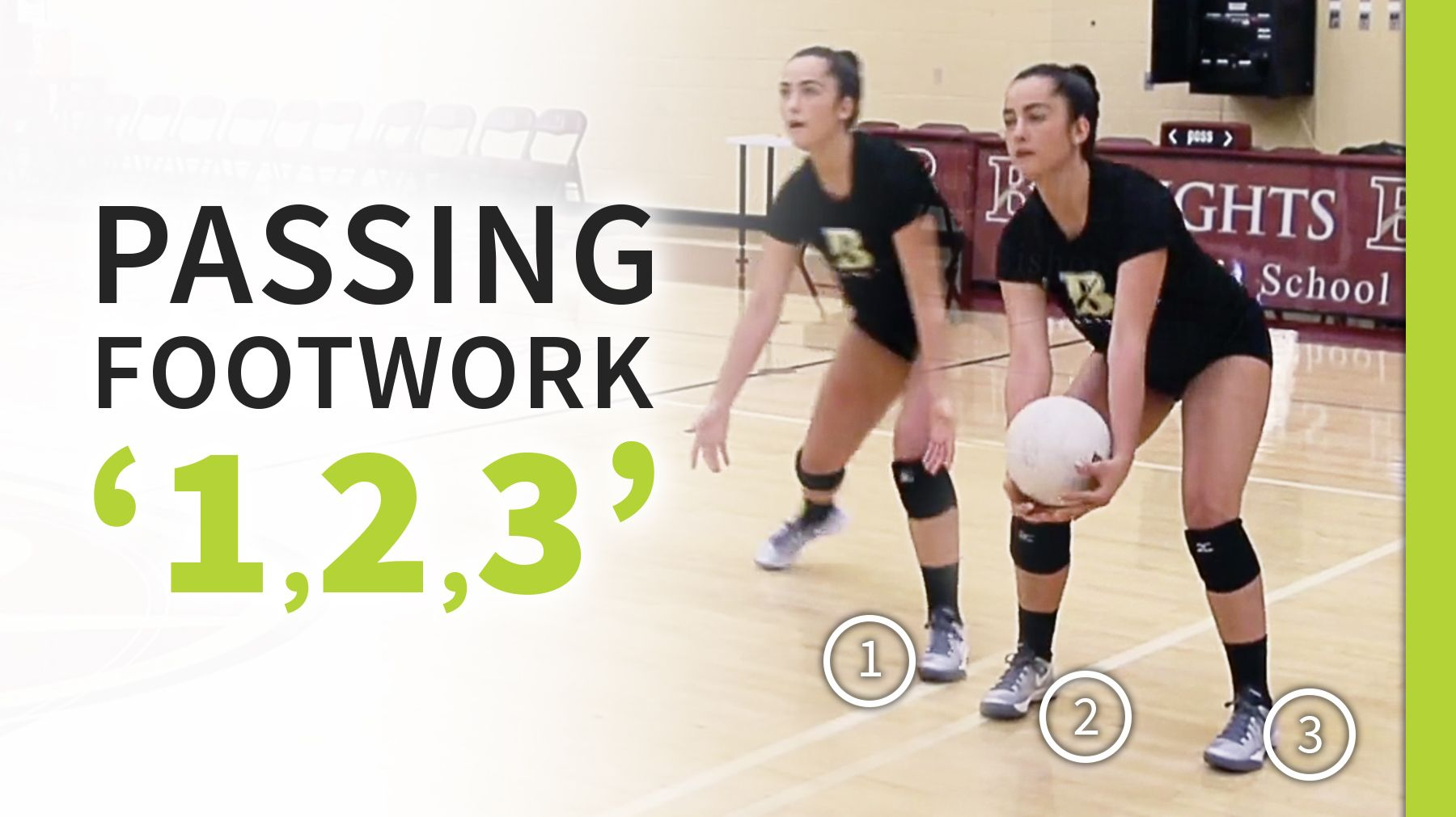 Improve Your Passing Footwork By Saying 1 2 3 Volleyball Training Coaching Volleyball Volleyball Practice